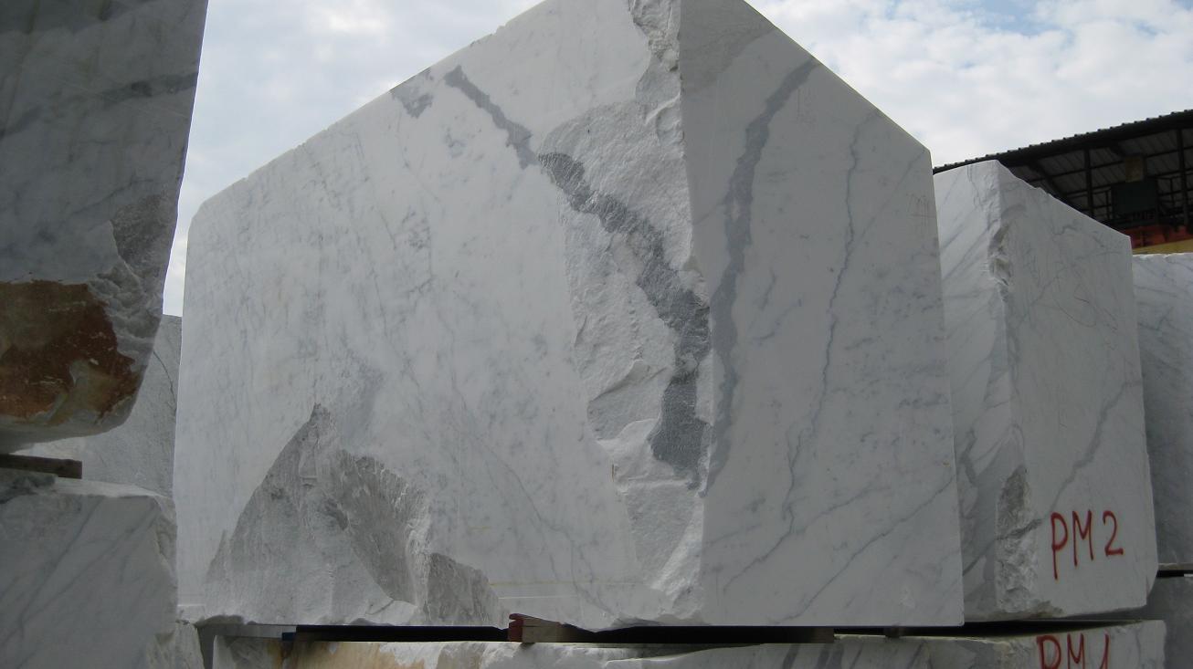 Black Gold Marble Blocks : Production carrara white marbe arabescato statuario