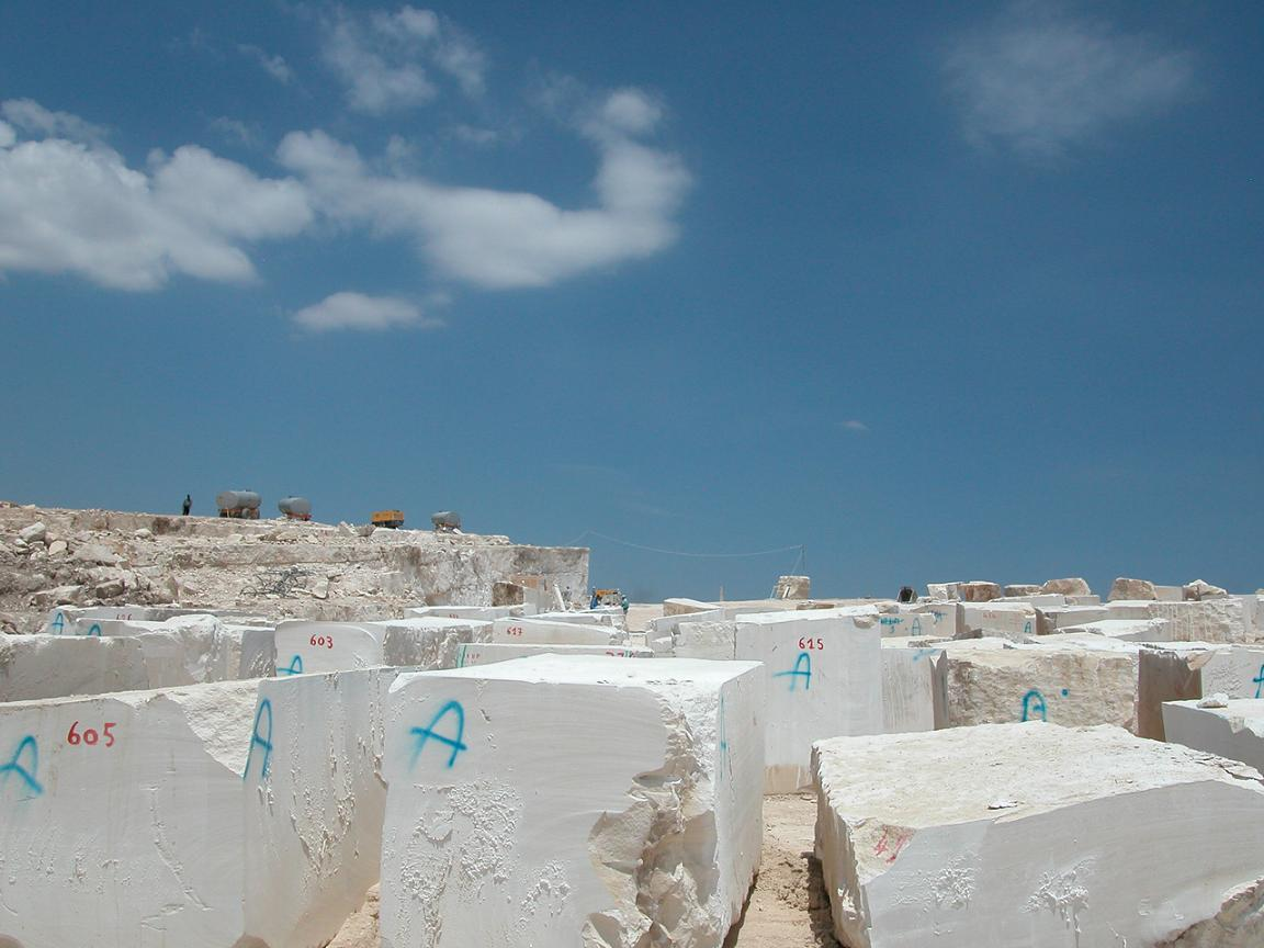 Quarry of White and cream Limestone