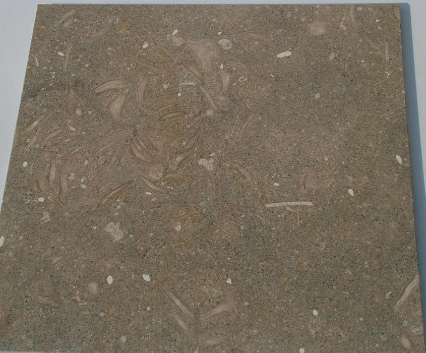 Limestone Fossil Green Extra Forte, honed, very good for exterior & interior