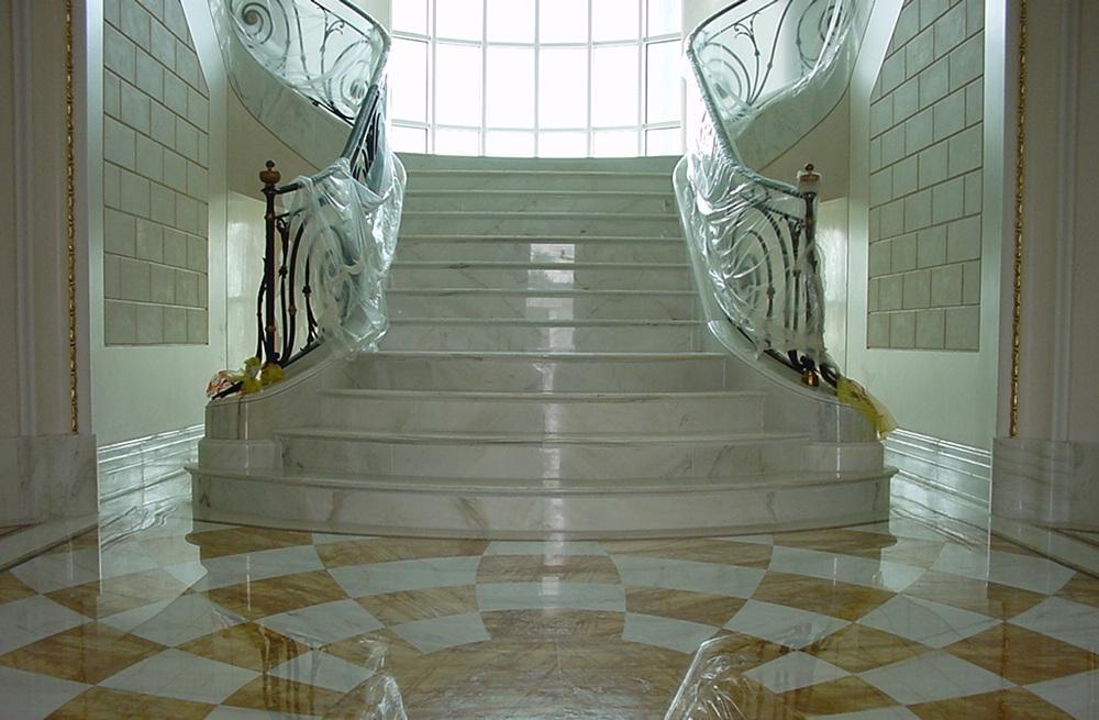 Lavorazione artistica del marmo pavimenti con disegni - Pavimentos de marmol ...